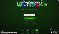 Wormax.io: Start Screen